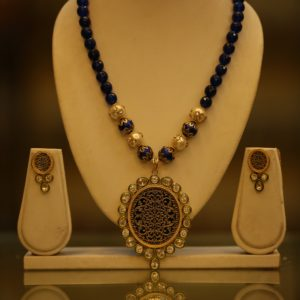 Blue Gemstone Necklace | Handicraft Jewellery